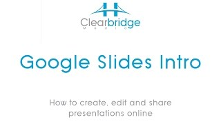 Google Slides Intro – How to create, edit and share presentations online