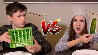 CANDY CANE vs REAL FOOD!!