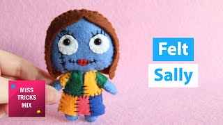 DIY: Sally Felt Doll | Halloween Crafts.