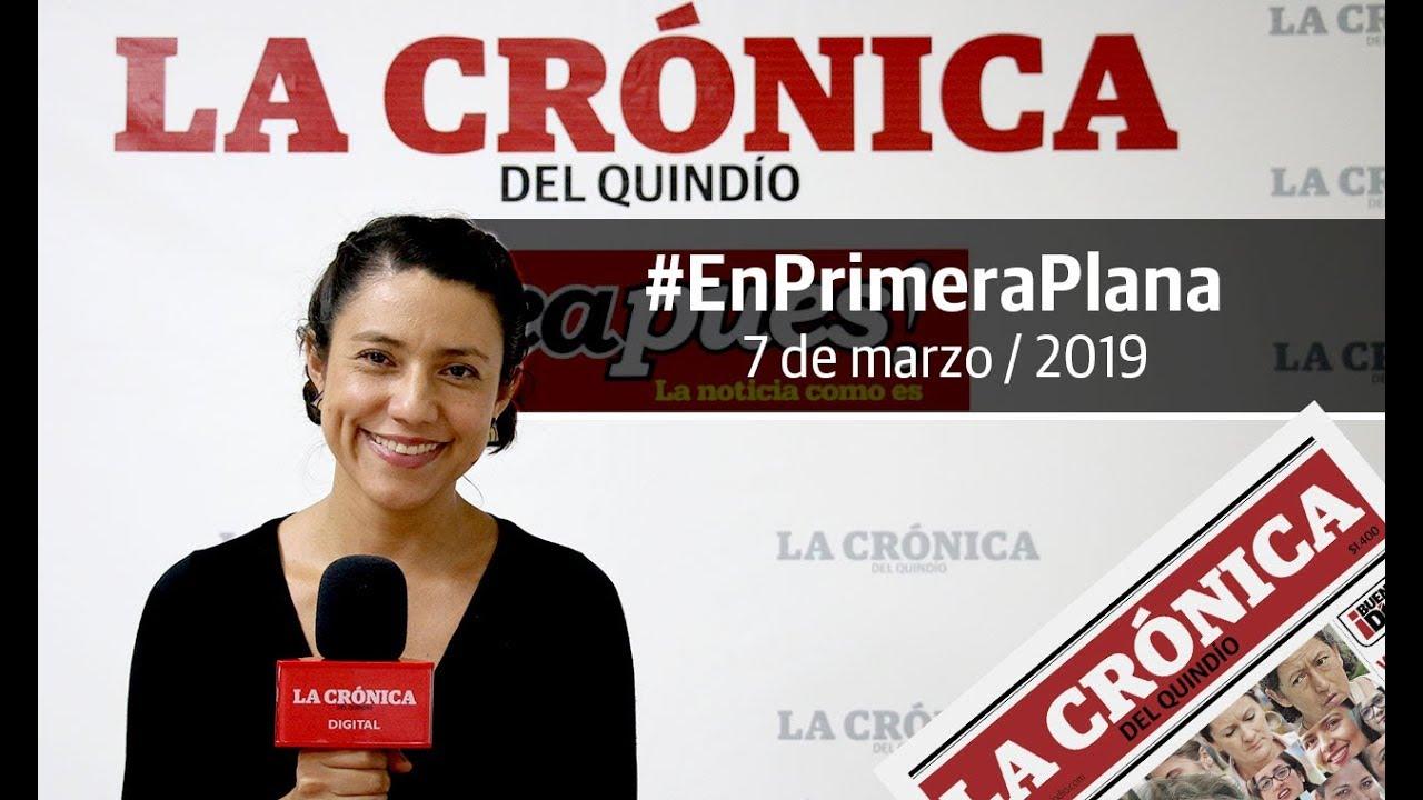 En Primera Plana: lo que será noticia este viernes 8 de marzo