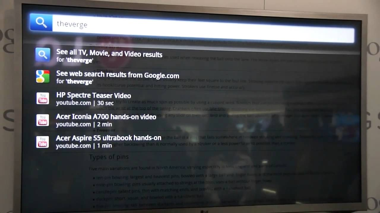 LG Smart TV with Google TV hands-on at CES 2012 thumbnail