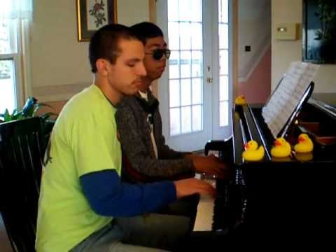Rubber Duckie - Sesame Street - Piano Duet with Nick