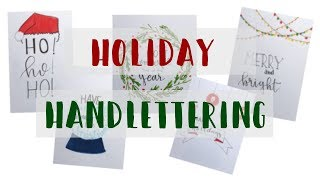 Holiday Letter With Me! // Handmade Christmas Card Ideas