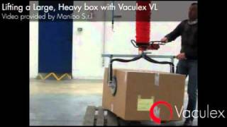 Lifting a Very Large Heavy Box with Vaculex VL