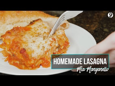Mia Manganello's Family Homemade Lasagna Recipe