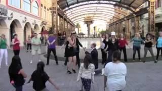 Debbie & Dan's Proposal Flash Mob   Tivoli Village Las Vegas