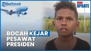 Cerita di Balik Viral Video Bocah Bawa Bendera Merah Putih Kejar Pesawat Kepresidenan di NTT