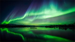Amazing Northern Lights, Beautiful Relaxing Music, Meditation Music, Stress Relief