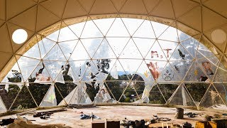 Abandoned: Half Built Geodesic Dome Home