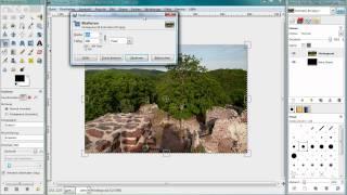 GIMP - Erstellung eines Passepartout-Rahmens (deutsch)