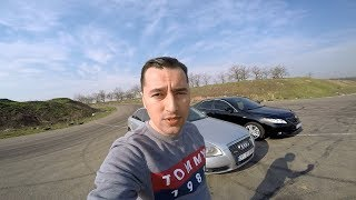 Камри 3.5  vs  Audi A6 (3,0) diesel .  Достойный заезд !!!