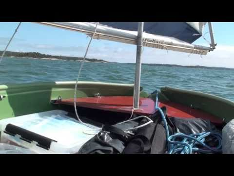 Sailing The TOTE-N-BOAT Folding Canoe