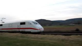 preview picture of video 'ICE 1 zwischen Weiler (Rems) und Schorndorf (03. März 2010)'