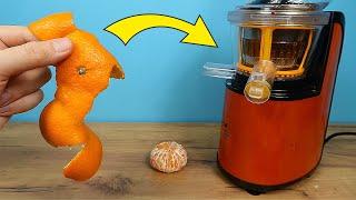 Можно ли выжать сок из мандариновых корочек? Эксперимент! Бедная соковыжималка. alex boyko