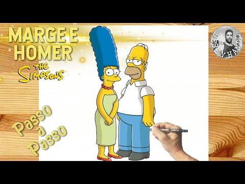 Como Desenhar MARGE E HOMER (Os Simpsons) Passo a Passo, Fcil, Completo