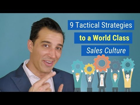 Sales Management Training   9 Tactical Strategies to a World Class Sales Culture