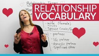 Learn English Vocabulary: The people we LOVE ❤ – spouse, girlfriend, partner, husband...