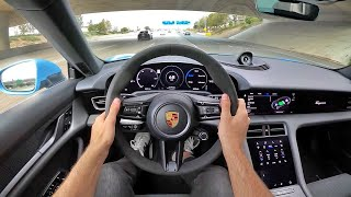 2021 Porsche Taycan 4S Performance Battery Plus POV Test Drive (3D Audio)(ASMR) by MilesPerHr