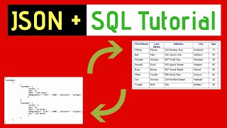 JSON and SQL Tutorial - Convert a table to JSON and JSON to table