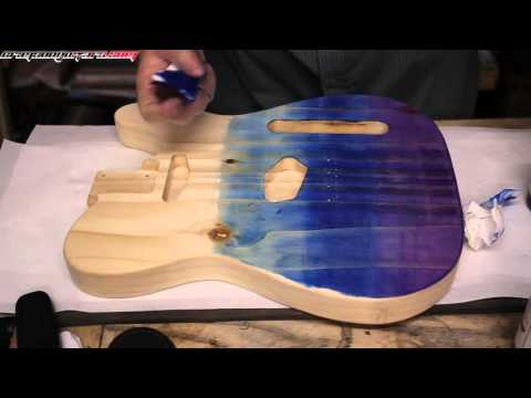 Ep 3 - How to Use Stunning Stains by Crimson Guitars - A Demonstration in Blue