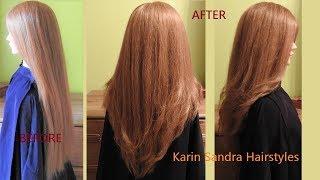 Long Layered Haircut   V Shaped Haircut   Face Framing Layers Haircut   Long V Haircut With Layers