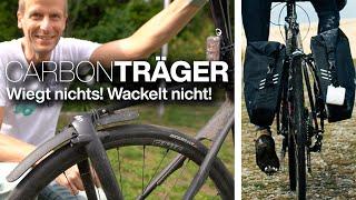 Tailfin T1 Carbon Pannier Rack Fahrradtaschen Gepäckträger + Super Light/Ultra Durable Pannier Bag