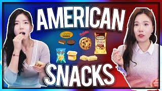 Koreans Try American Snacks(Eng Sub)
