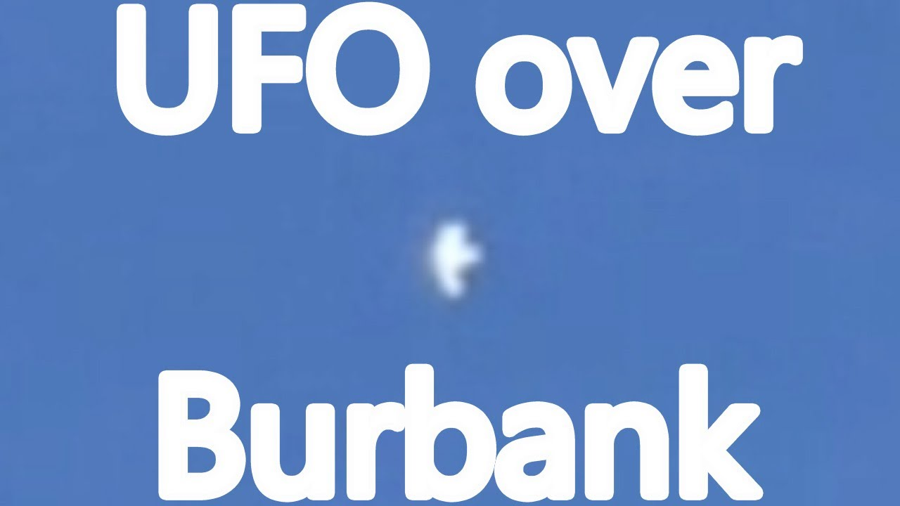 Extraño ovni sobrevolando Burbank, CA 3 de abril de 2021
