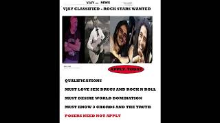 ROCK STARS WANTED !