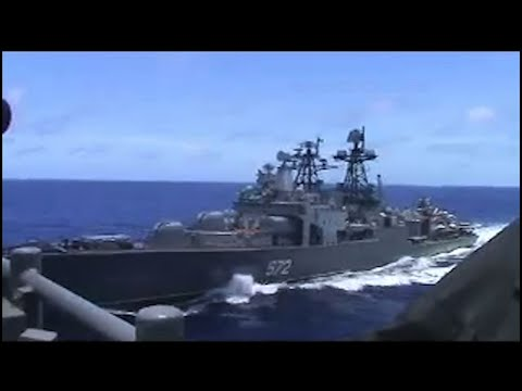 Russian and United States warships nearly collide in East China Sea