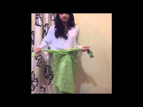 Video how to wear kain batik #tugasbuamel