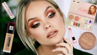 FULL FACE TRYING NEW DRUGSTORE MAKEUP