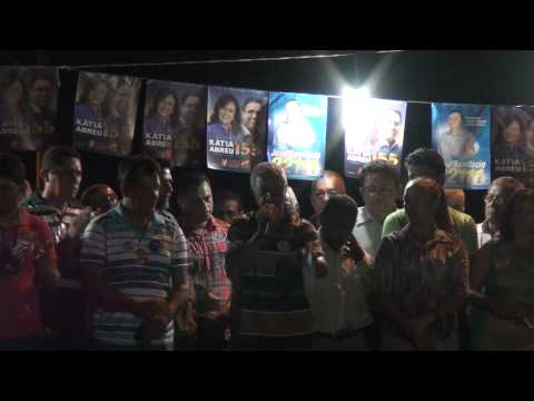 Adelson Discursando no Comicio de Bonifácio em Aguiarnópolis
