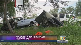 Major injury crash on Highway 178 involving multiple vehicles