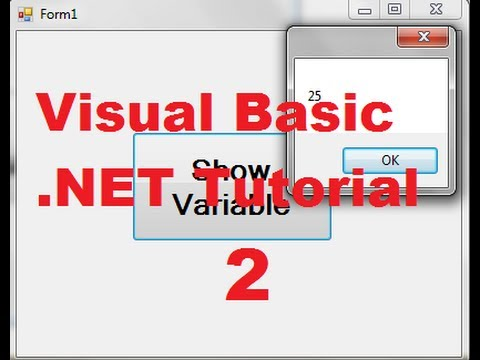 Visual Basic .NET Tutorial 2 – Variable Declaration in Visual Basic