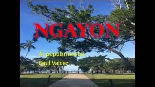 (Videoke)   Ngayon By:Basil Valdez...  MTV