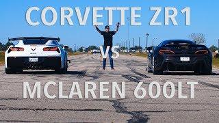 2019 Corvette ZR1 vs McLaren 600LT Drag Race
