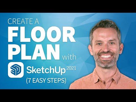 SketchUp Interior Design Tutorial—How to Create a Floor Plan (2021 Update)