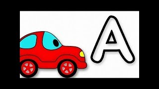 Learn The ABC With Funny Car And Sing The Alphabet Song!