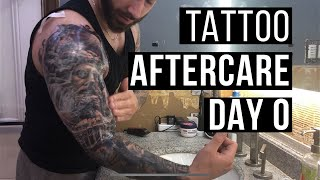 How To Treat A New Tattoo: Healing Process/Aftercare DAY 0 ( FRESH )