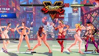 Street Fighter V AE Laura/Sakura/Juri vs Chun Li/Karin/Cammy PC Mod