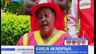 Viongozi wa chama cha Jubilee Kirinyaga wamsuta Martha Karua kuwa anaeneza siasa za Raila