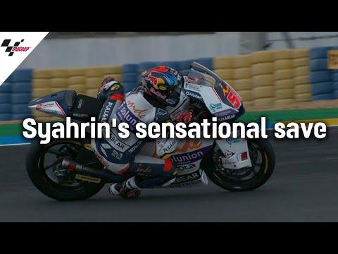 あわやハイサイド?!シャリーンが間一髪でハイサイドを回避!MotoGP フランスGP