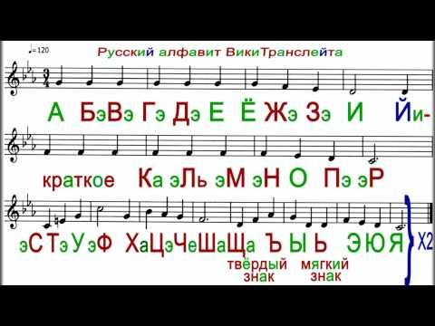 LEARN RUSSIAN LETTERS ♫ Sing Russian