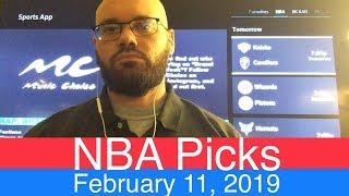 NBA Picks (2-11-19) | Basketball Sports Betting Expert Predictions Video | Vegas | February 11, 2019