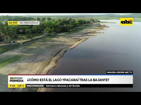 ¿Cómo está el Lago Ypacaraí tras la bajante?