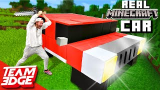 We Made the World's First MINECRAFT Car IRL!! and then destroyed it......