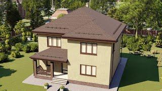 Проект дома 194-B, Площадь дома: 194 м2, Размер дома:  12,3x14,4 м