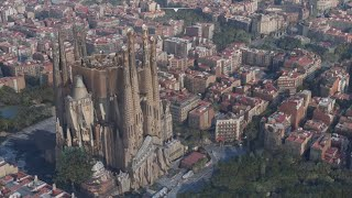 Barcelona in Microsoft Flight Simulator Preview: scenic flight and street low passes