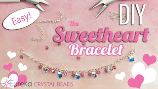 How To Make A Chain Bracelet With Crystals By Swarovski!